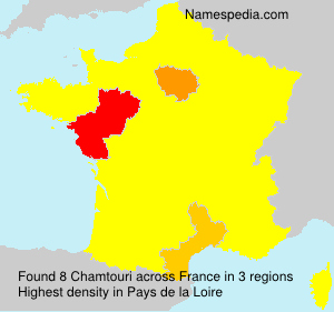 Surname Chamtouri in France