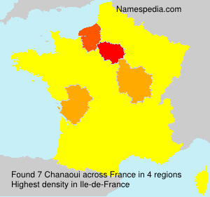 Surname Chanaoui in France