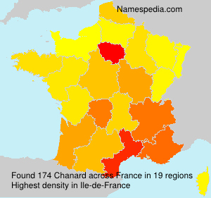 Surname Chanard in France