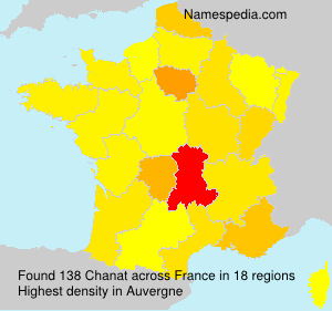 Surname Chanat in France