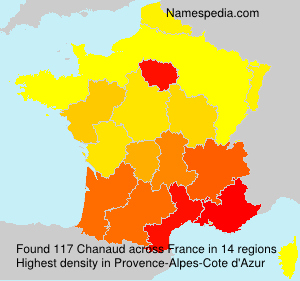 Surname Chanaud in France