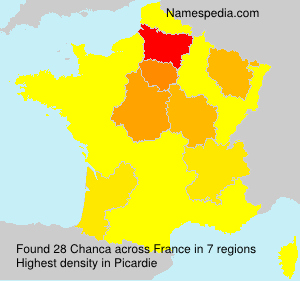 Surname Chanca in France