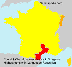 Surname Chando in France