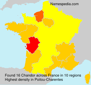 Surname Chandor in France