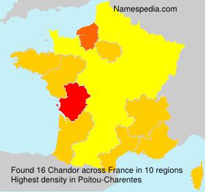 Surname Chandor in France
