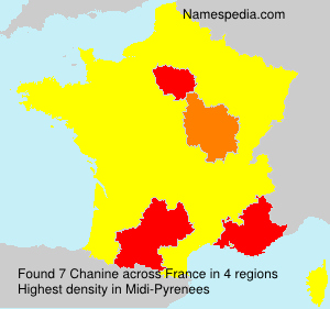 Surname Chanine in France