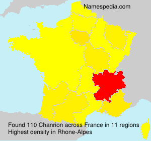 Surname Chanrion in France