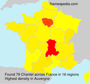 Surname Chantel in France