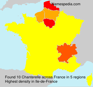 Surname Chanterelle in France