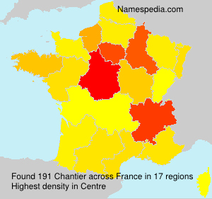 Surname Chantier in France