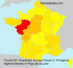 Surname Chantreau in France