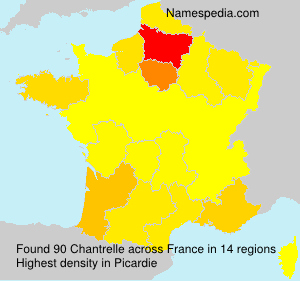 Surname Chantrelle in France