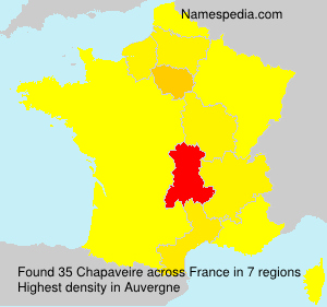 Surname Chapaveire in France