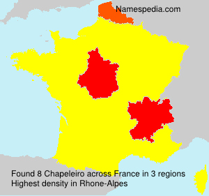 Surname Chapeleiro in France