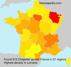 Surname Chapelier in France