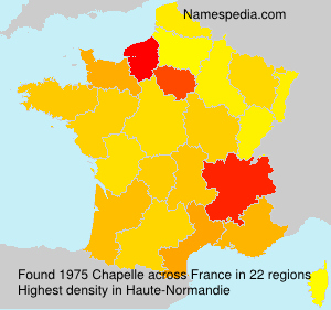 Surname Chapelle in France