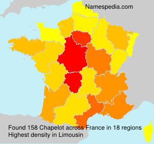Familiennamen Chapelot - France