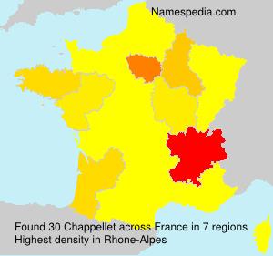 Familiennamen Chappellet - France