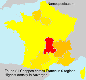 Surname Chappes in France