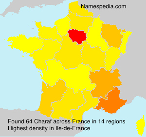 Surname Charaf in France
