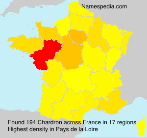 Surname Chardron in France