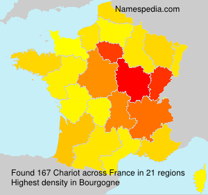 Surname Chariot in France