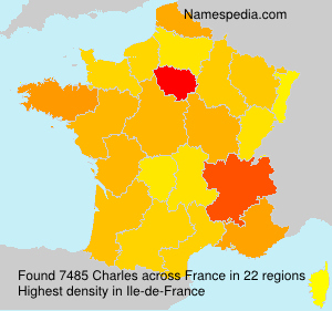 Surname Charles in France