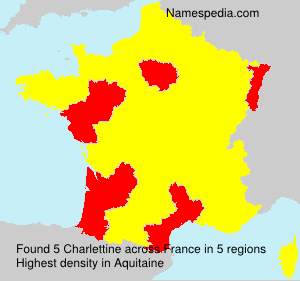 Surname Charlettine in France