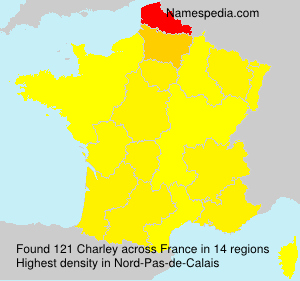 Surname Charley in France