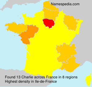 Surname Charlie in France