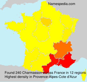 Surname Charmasson in France