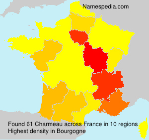 Surname Charmeau in France