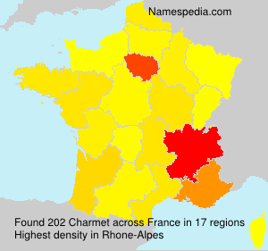 Surname Charmet in France