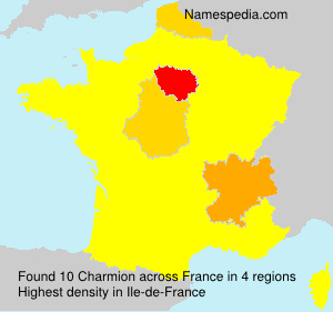 Surname Charmion in France