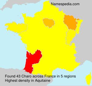 Surname Charo in France