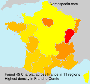 Surname Charpiat in France