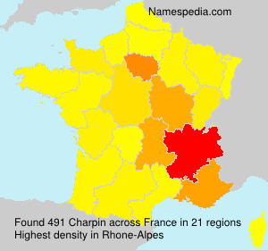 Surname Charpin in France