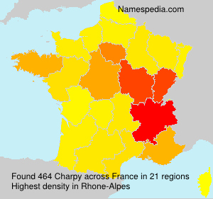 Surname Charpy in France