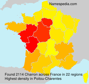Surname Charron in France