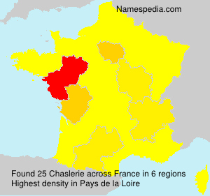 Surname Chaslerie in France