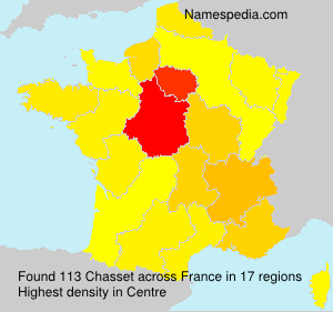 Surname Chasset in France