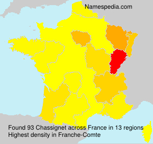 Surname Chassignet in France