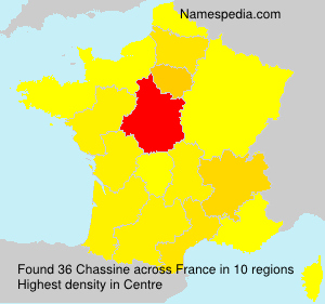 Surname Chassine in France