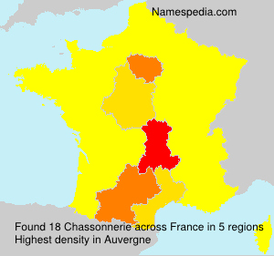 Surname Chassonnerie in France