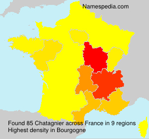 Surname Chatagnier in France