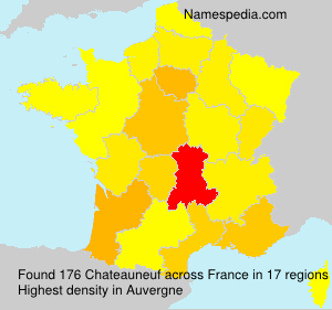 Surname Chateauneuf in France