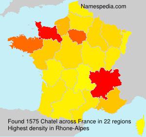 Familiennamen Chatel - France