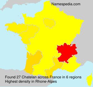 Surname Chatelan in France