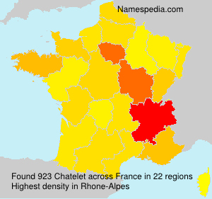 Surname Chatelet in France