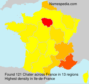 Familiennamen Chater - France